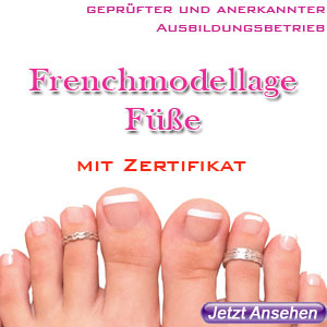 Frenchmodellage Füsse