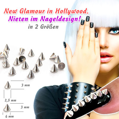 Nieten Nailart Nageldesign
