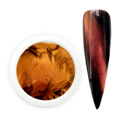 Cat Eye Magnet Gel brown gold