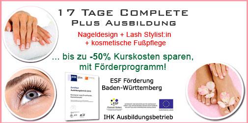 Baden-Baden Nageldesign Wimpernverlängerung Komplettausbildung günstig