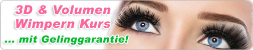 3D Wimpern Volumen Kurs